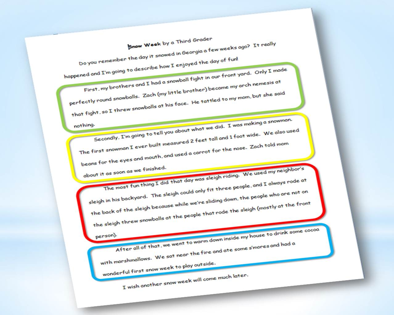 the best prewriting organizers for expository and persuasive  here s the finished essay using the snow week mind web organizer click the