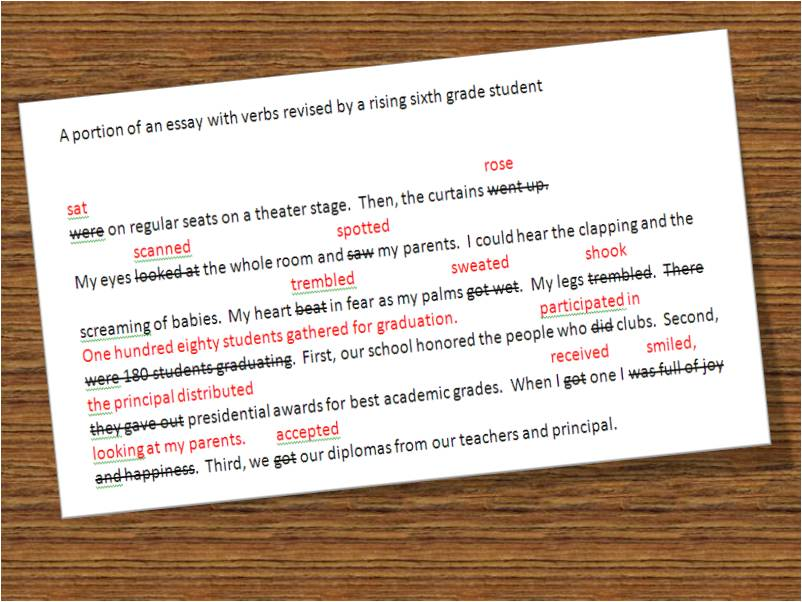 useful essay verbs Start studying useful phrases for spanish essays learn vocabulary, terms, and more with flashcards, games, and other study tools.