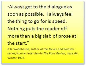 Author's Quote on adding dialogue