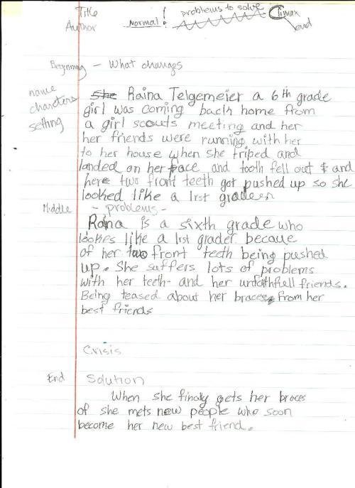 Smile, page 1, written draft 001