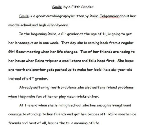 Typed version of student's essay
