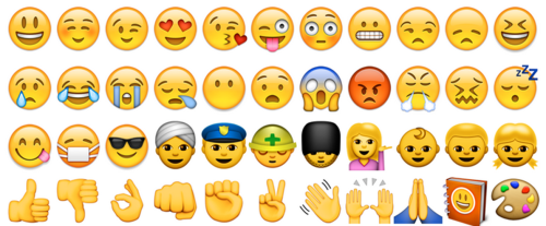 dozens of emojis