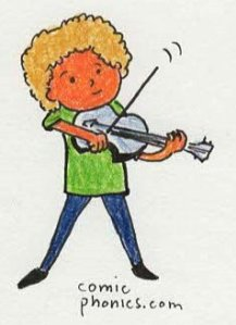 child playing violin