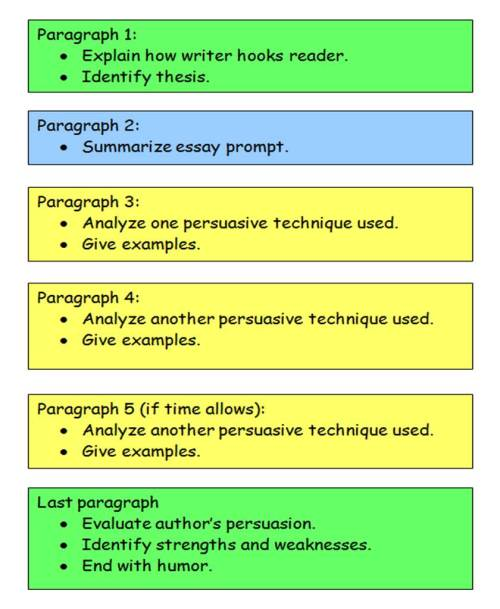 essay structure for sat